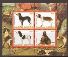 DJIBOUTI 2008 DOGS  M/SHEETS (NO2) MNH