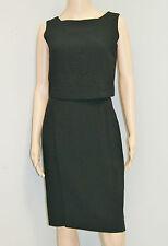 50's 60's Vintage Mod Atomic Mid Century Black Cocktail Dress W/ Top - Size 4