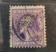 US rare 1908 Washington 50c perfin $10 start!!