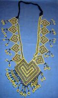 """Necklace Beaded Afghan Kuchi Tribal 14"""" with ties"""
