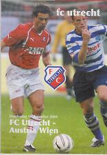 Programme / Programma FC Utrecht v Austria Wien 16-12-2004 UEFA Cup