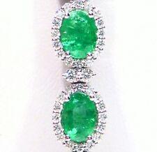 13.58CT 18K Gold Natural Emerald Diamond Halo Designer Vintage Tennis Bracelet