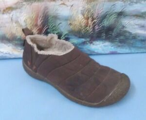 Keen Cush Howser Women Brown Quilted Lined Bootie Loafer Shoe Size 8/38.5