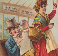 Trolley Train Mennens Sure Corn Killer Bunion Foot Wart Remedy Advertising Card