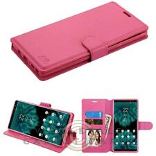 Samsung Note 9 MYBAT Wallet W/Tray - Hot Pink Case Cover Shell Shield