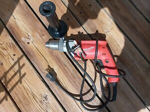 Milwaukee Corded Drill with Handle Bar