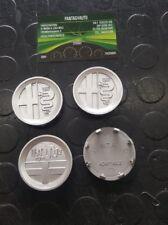 Set 4 Coprimozzi Coppette Borchie Cerchi In Lega Alfa Romeo 50 mm fondo grigio