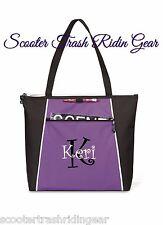 Personalized monogram Purple tote bag business diaper Anchor Nurse Teacher baby