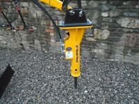 MINI micro DIGGER, new HYDRAULIC BREAKER, excavator PECKER kango