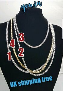 Silver Plated Gold Plated Trace Chain Necklaces available in 18 24 inch NEW SEXY