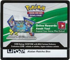 EMAIL ONLINE CODE - Alolan Raichu - SM65 - Pokemon TCG Figure Box Collection