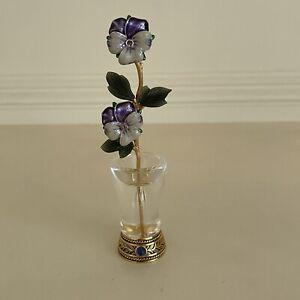 Joan Rivers Imperial Flowers, Pansies, Vintage, Signed