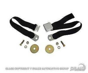 """1964-1973 Ford Mustang ANY EARLY FORD 60"""" Parchment/Palomino - Chrome Buckles"""