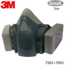 3M 7501 Half Facepiece Respirator W/ 2 Each 7093 P1OO Particulat Filter, SMALL