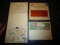 Anciens Papier Enveloppes & Publicité Boite de Cirage Crème Sayet & Cygne Noir