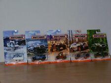 Matchbox Lot of 5 Different MB Camo Trucks Blizzard Rhino Hummer Jeep Raptor