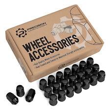 24pc Wheel Lug Nuts Acorn Bulge Black - 7/16-20 for older 6-Lug Chevy & GMC