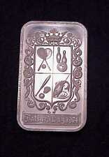 """VINTAGE MADISON MINT """"FATHER'S DAY`1974"""" 1 OZ .999 SILVER PROOFLIKE BAR **LOOK**"""