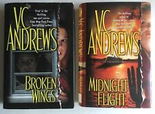 V.C. Andrews 2 Books - Broken Wings & Midnight Flight Hardcover with Dust Jacket