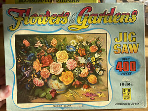 Vintage Tower Press 400 Piece Jigsaw Puzzle Flowers And Gardens Summer Glory
