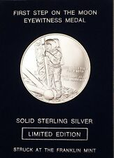 """Franklin Mint Limited Edition """"Apollo 15"""" Space Sterling Silver UNC Medal"""