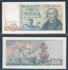 """REPUBBLICA ITALIANA 5.000 LIRE """"COLOMBO 3 CARAVELLA"""" DEC. 20/05/1971  F.D.S. A."""