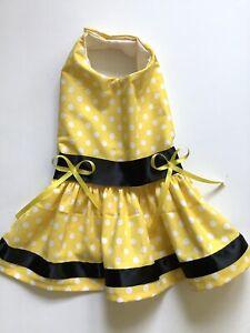 Polkadots Doggie Dress Handmade Size  M