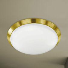 Wofi Action LED Deckenleuchte Mara 1-flg Messing Weiß Rund ø40 cm 25 Watt Lampe