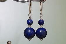 Runder Echtschmuck im Ohrstecker-Stil mit Lapis Lazuli Ohrschmuck