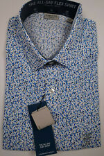 KENNETH COLE REACTION Blue Slim Fit Long Sleeve Dress Shirt 16-1/2 36/37