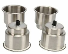4Pcs Stainless Steel Cup Holders Recessed,Boat Stainless Drink Holder with Drain