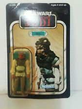 Vintage Star Wars Original MOC ROTJ Nikto Figure 77 Back Unpunched