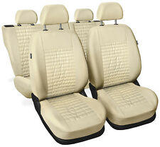 CAR SEAT COVERS full set fit Seat Toledo - leatherette Eco leather beige