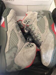 "Air Jordan ""Take Flight""RetroV 5 RARE! Grey Camo/Red. Men Size 11"