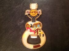 HARD ROCK CAFE BOTTLE OPENER MAGNET. WARSAW. GUITAR. CITY.