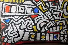 Abstract - Vintage Bold Colorist Expressionist Acrylic on Board Painting
