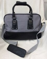 BNWT MENS GREY & BLACK TRAVEL OVERNIGHT HAND LUGGAGE BAG/ GYM SPORTS HOLDALL