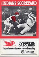1969 4/13 baseball program, Boston Red Sox @ Cleveland Indians, scored ~ GOOD