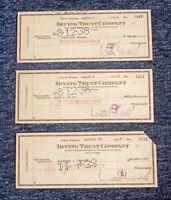 3 ORIG 1938 IRVING TRUST COMPANY CHECKS BROADCASTER / JOURNALIST WALTER WINCHELL