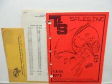 1975 T&S Motorcycle Parts Catalog Dealer Price List Chopper Harley Honda L11649