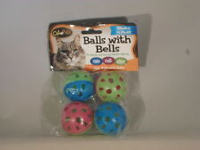Cat Pals Bow Wow Cat Balls with Bells Toys Total 8 Activity Play T1