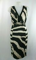 Just Cavalli Zebra Black And White Print Shift Dress Size 12 UK/ 40 EU/ 8 US
