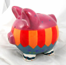 Bella Casa by Ganz PIGGY BANK Hand Painted Ceramic Piggybank