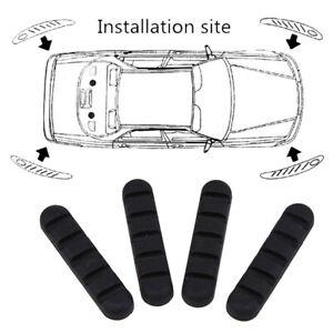 4pcs Universal Car Bumper Corner Rubber Protector Anti-rub Scratch Guard Strips