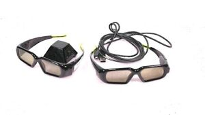 (2) NVidia P854 3D Vision Wireless Glasses Stereoscopic 3D Movie Gaming + IR