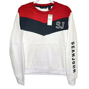 Sean John Contrast Chevron Sweatshirt Men's *Choose Size* New Pullover $89