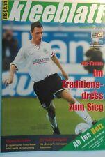Stadionheft Kleeblatt - Greuther Fürth gg Babelsberg 01/02