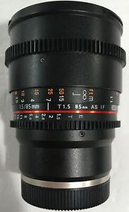 ROKINOMN CINE DS 85mm T1.5 AS IF UMC FULL FRAME CINE LENS FOR SONY E-MOUNT