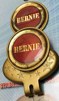 Name Bernie Golf Ball Marker, 1 Magnetic Hat Clip ( Gold Finish)