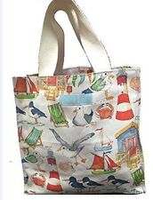 seaside small canvas bag